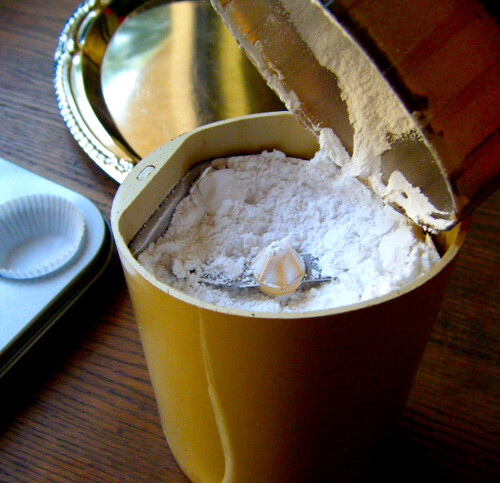 Powdering erythritol in a coffee grinder | by HealthyIndulgencesBlog