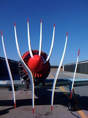 Airplane Prop + CMOS Rolling Shutter = WTF   by sorenragsdale
