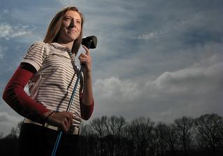 Golf portrait   by strobist