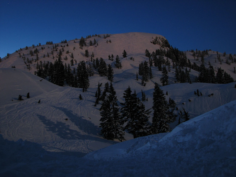 Mt Seymour evening snowshoe, 19 Apr 2008
