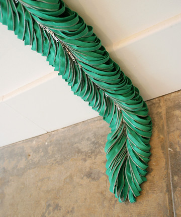 """Kristina Lewis """"Cultivated Zip"""" (detail)"""
