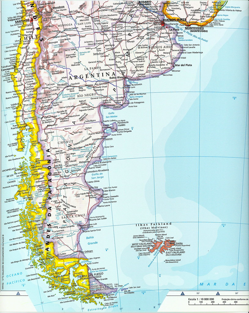 Mapa parcial América del Sur - América do Sul - South Amer… | Flickr