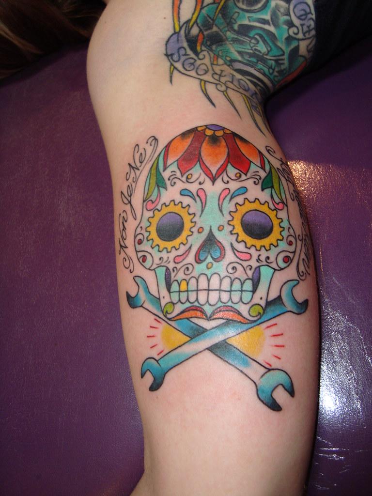 Calavera Tattoo Flash calavera tattoo | sarah de azevedo | flickr