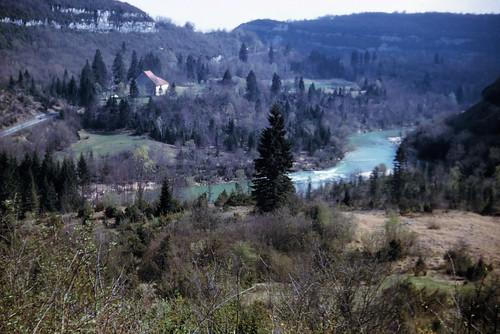 La ferme de Garde Chemin avant la mise en eau du lac de Vouglans