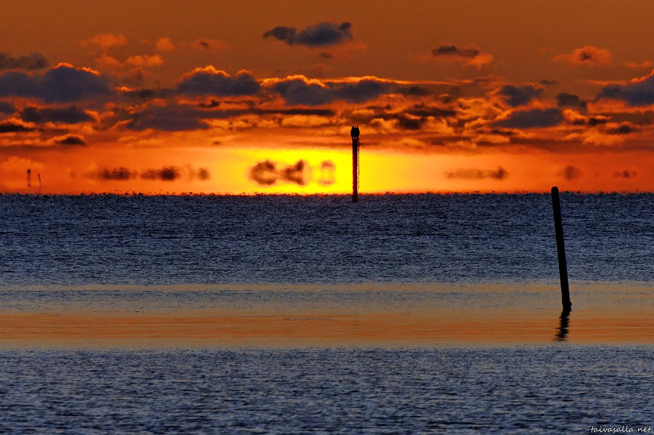 Sunset mirage