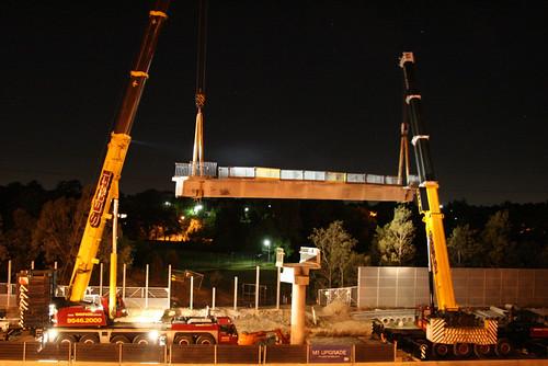 Swinging the span between the cranes | by Stephen Edmonds