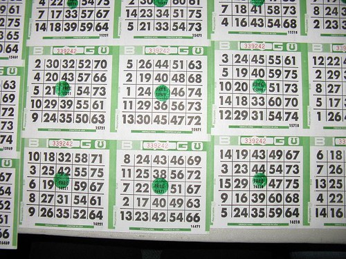 bingo card with green dots | by stevendamron