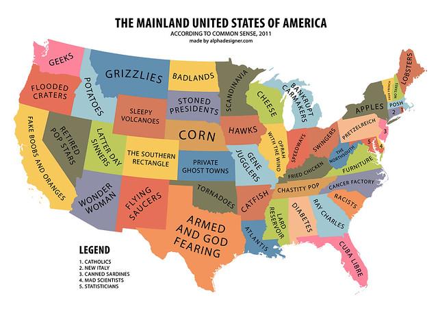 The Mainland United States of America According to Common Sense