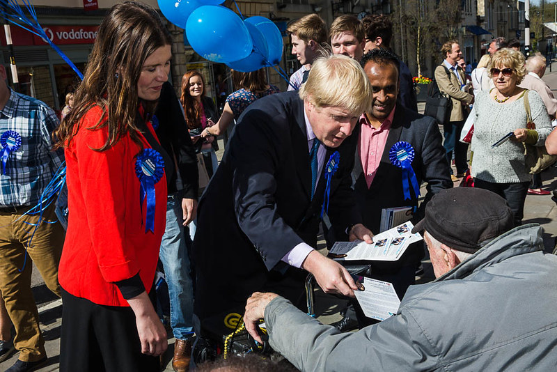 Michelle Donelan and Boris Johnson