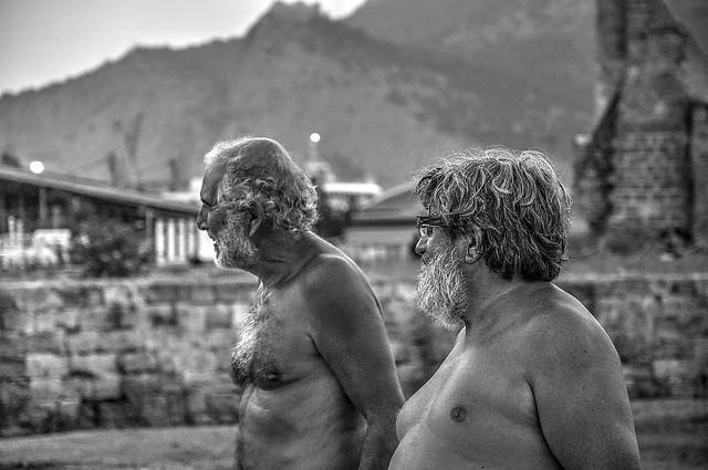 uomini di mare con i loro profili