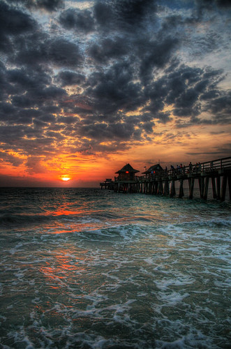 ocean sunset sky sun beach gulfofmexico water clouds georgia pier video gulf florida charles 100views naples fl productions hdr hover sharpsburg 5photosaday massengill charlesmassengill treasuredvisions treasuredvisionsphotography