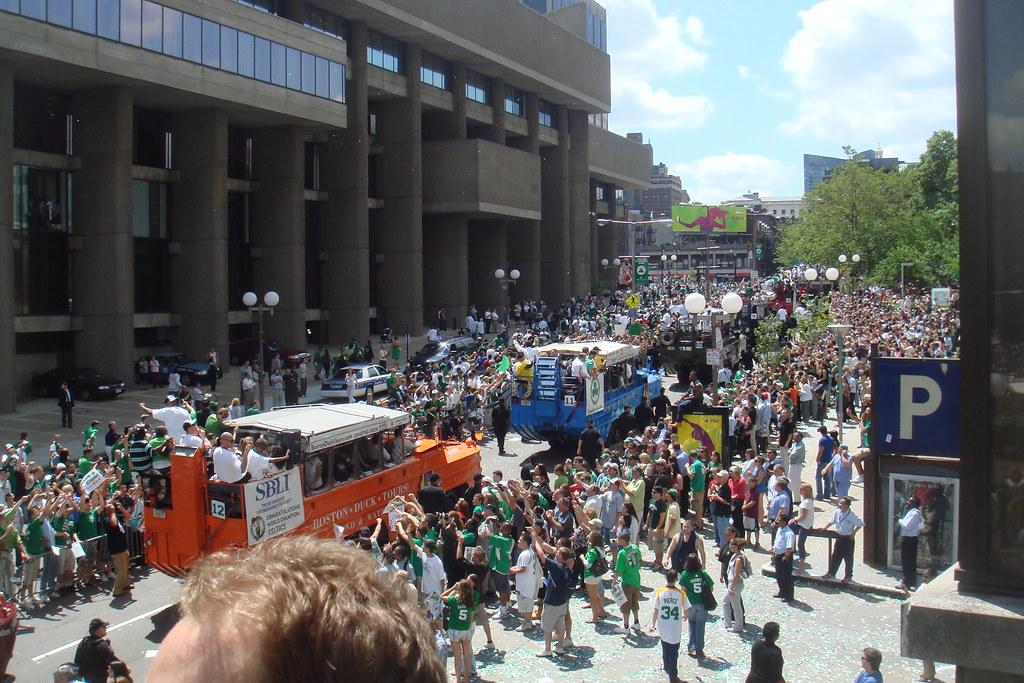Boston Celtics rally 2008