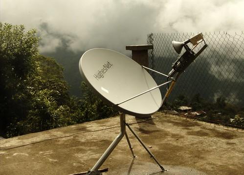 Antena Lista para Telefonia IP via satelite