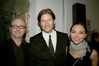 Derek O'Connor, Crispin Glover and Mara LaFontaine | by darklight festival