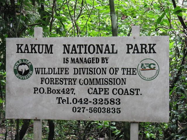Kakum Park Sign