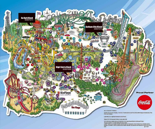 SF Magic Mountain Map | skrien | Flickr on brasstown bald mountain map, crotched mountain map, great america map, schuss mountain map, knotts berry farm map, universal studios map, six flags map, knottsberry farm map, legoland map, steele peak shooting area map, cedar point map, boyne mountain map, dream catcher map, sunset strip map, robin hood map, disneyland map, knott's map, loon mountain map, mount snow map, new river state park map,