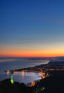 Giardini Naxos bay at sunset - Sicily