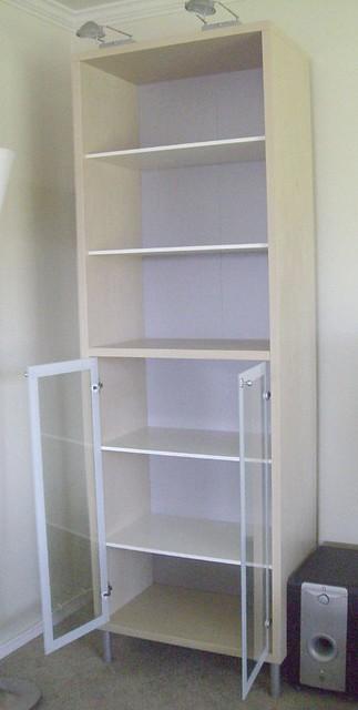 Ikea Magiker Bookcase Glass Doors And 2 Inreda Halogen Lig Flickr