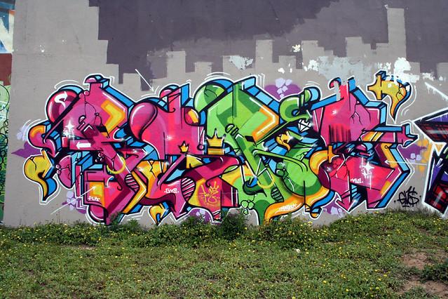 Graffiti Hall of Fame in Amoreiras, Lisbon