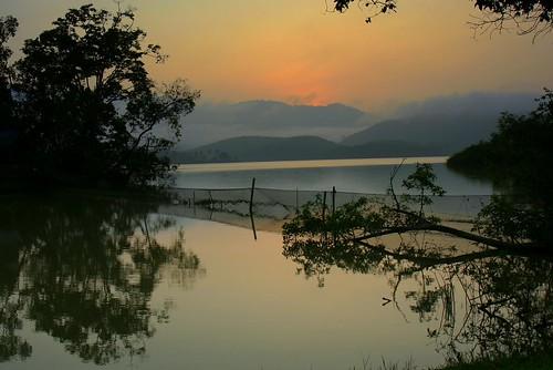 sunset asia malaysia tropics fishingnet