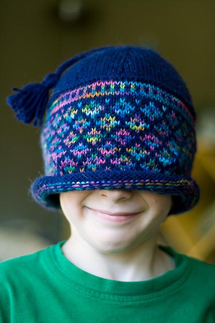 Joshua Models the Jacquard Hat