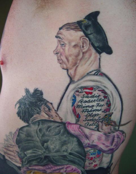 Nornen Tattoo: Norman Rockwell Tattoo