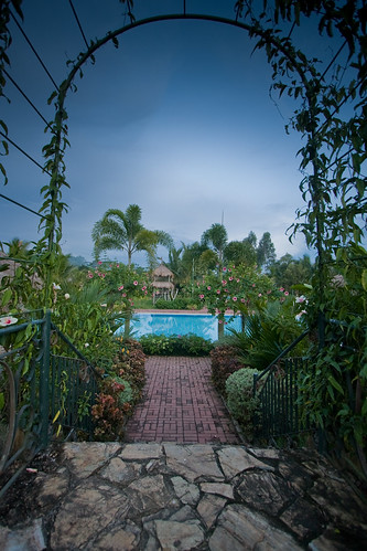 Walkway view of the pool | by Villa Crisanta