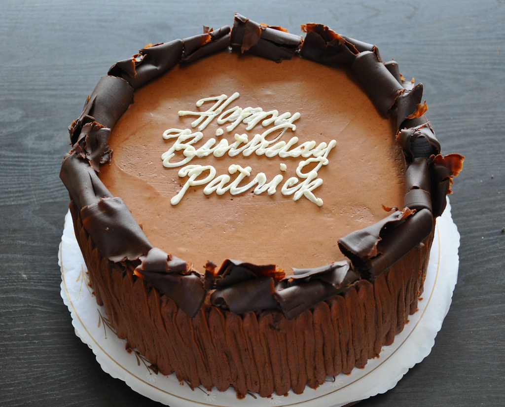 Marvelous Birthday Cake Patricks 14Th Birthday Cake German Chocolat Flickr Personalised Birthday Cards Cominlily Jamesorg