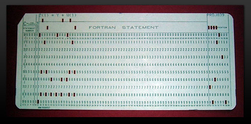 fortran statement on card   Card from a Fortran program: Z(1