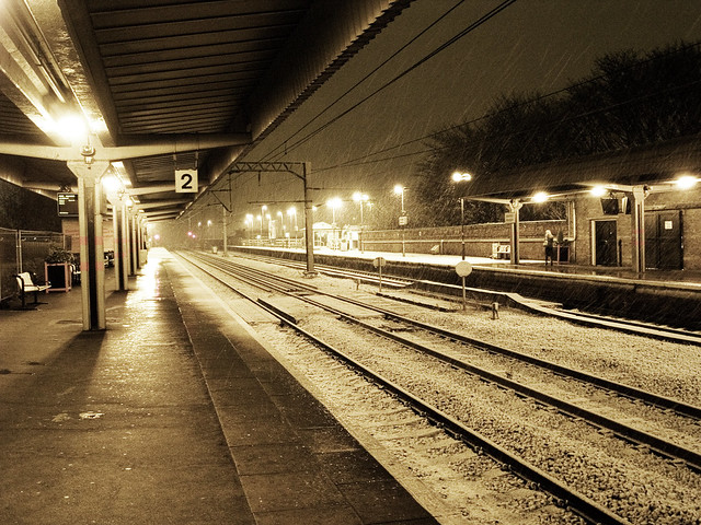 Westgate Station In Snow