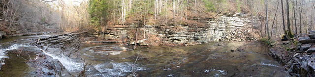 Flatt Creek Falls Panorama, Overton Co, TN