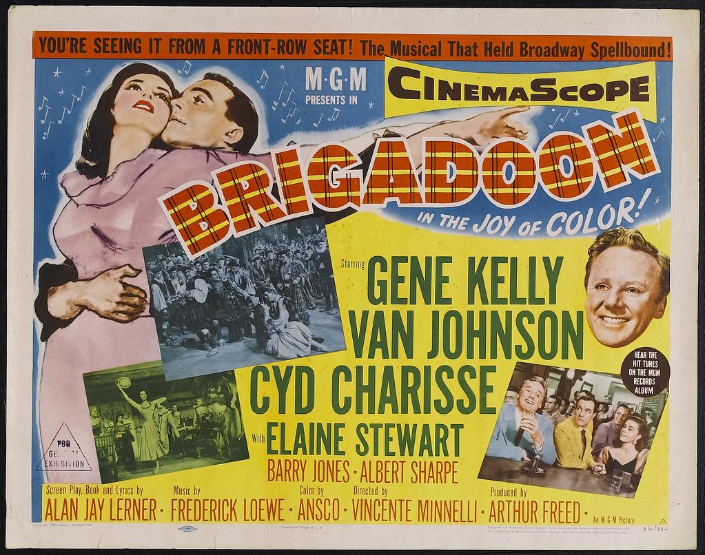 Brigadoon Movie Title Lobby Card | Brigadoon (MGM, 1954)  Ha