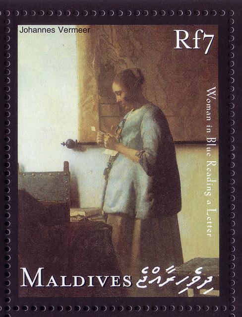 【Vermeer's letter stamp】モルディブ諸島2001/1/2c