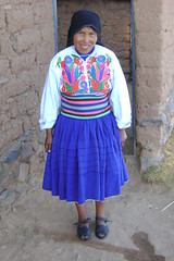 Our hostess at Amantaní in Lake Titicaca