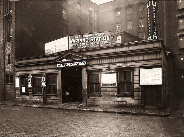 Wapping Underground station. c1930