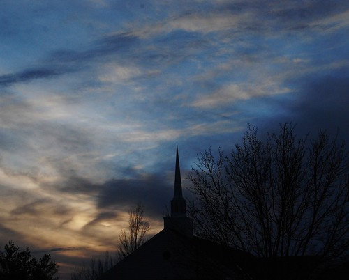church steeple and sunset | by k4dordy