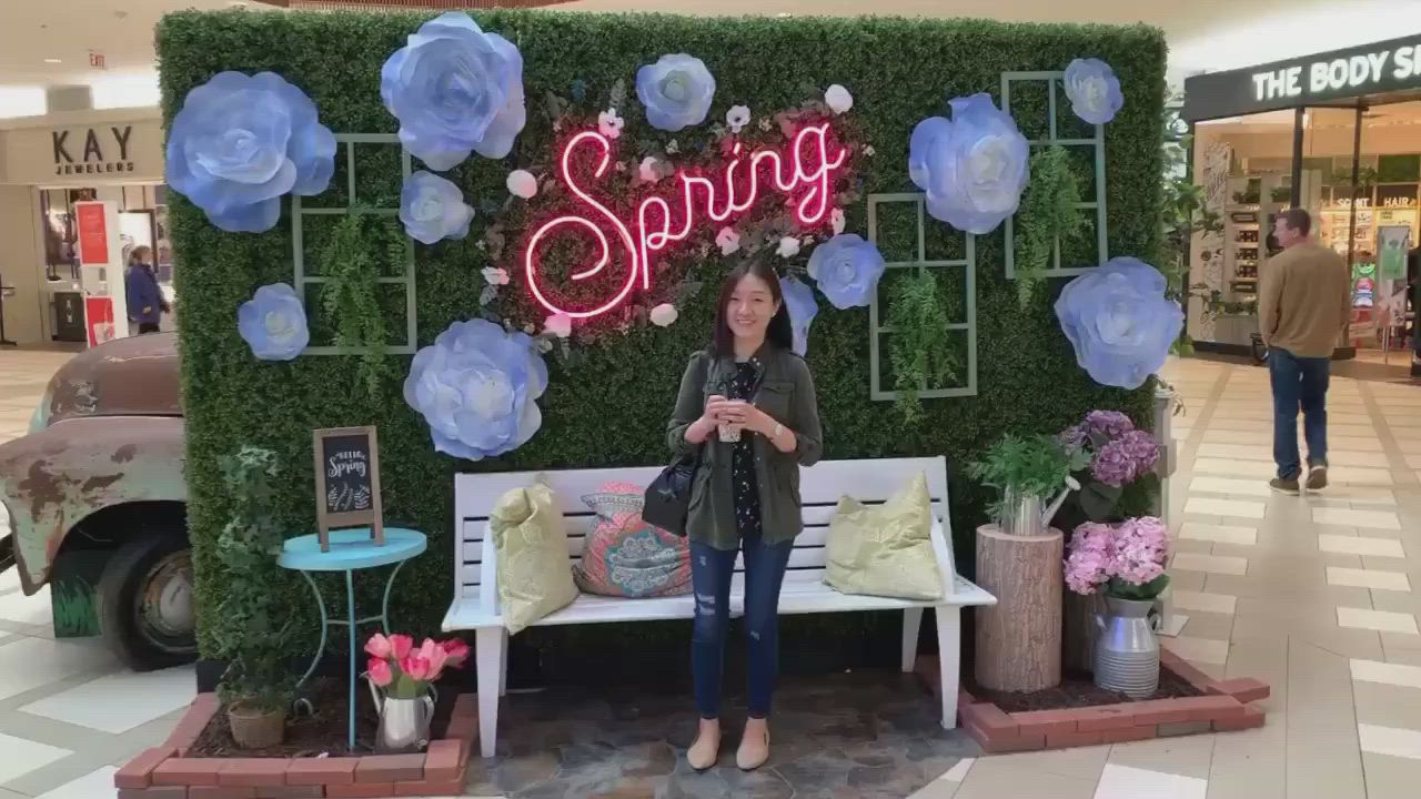 Spring Instagram Wall at Natick Mall