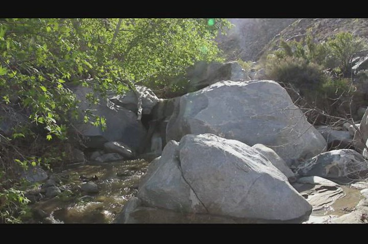 273 Video of Cougar Creek cascading over the granite boulders in Cougar Canyon