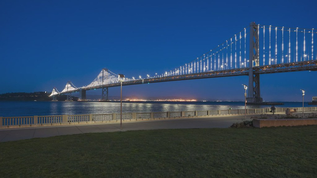 Bay Bridge Twilight Pan TL 032319 HD with music