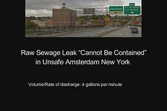 Raw Sewage Leak ?Cannot Be Contained? in Unsafe Amsterdam New York