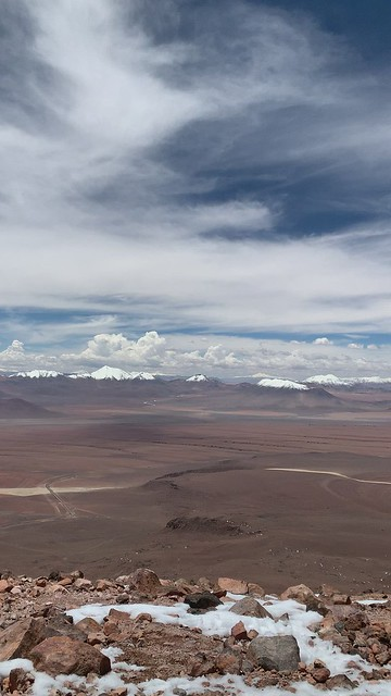 Summit of Cerro Toco (Stratovolcano), 5,604 meters (18,386 ft) above sea level, the Purico Complex, the Atacama desert, Antofagasta, Chile.