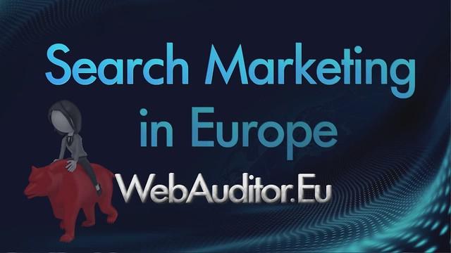European Search Marketing #WebAuditor.Eu for Best Online Marketing in Europe