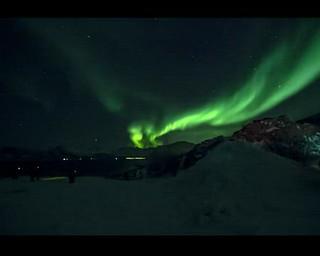 aurores lundi 4 février 2019 Sommaroy, Norvège.