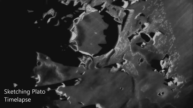Sketching Lunar Crater Plato - Timelapse Video