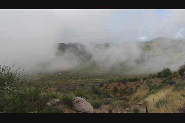 1030 Video of storm clouds blowing in Lone Pine Canyon as we hike the PCT near Ralston Peak