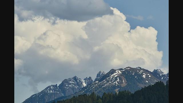 Wolken über den Kalkkögeln