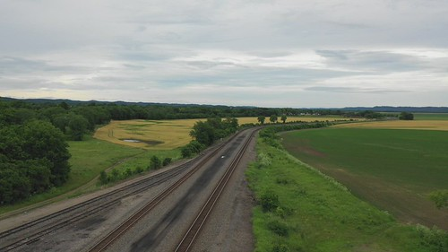 train drone waverley ohio tracks wheatfarm trees mavicpro2