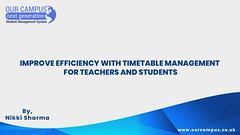 Needs of Time Table Management System - Our Campus Software