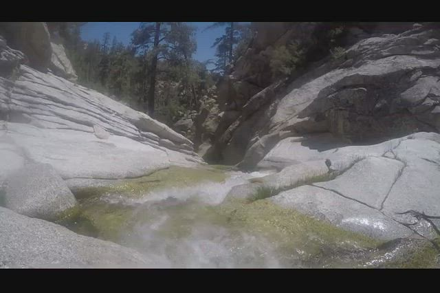 537 GoPro underwater video of the swirling water of Tahquitz Creek at Caramba Camp