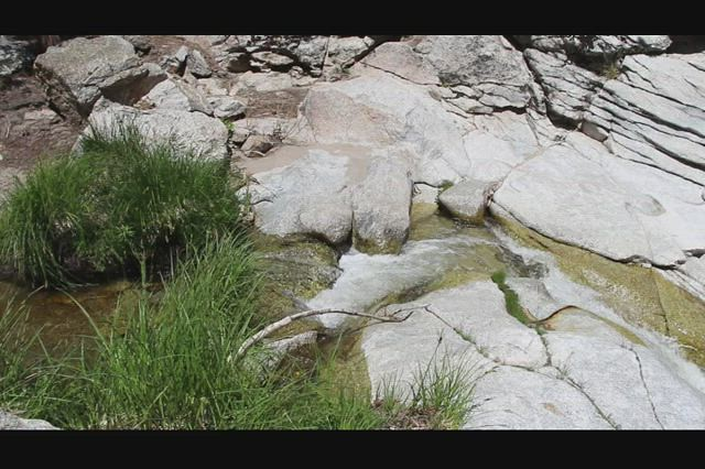 511 Video of Tahquitz Creek at Caramba Camp where it begins the first waterfall